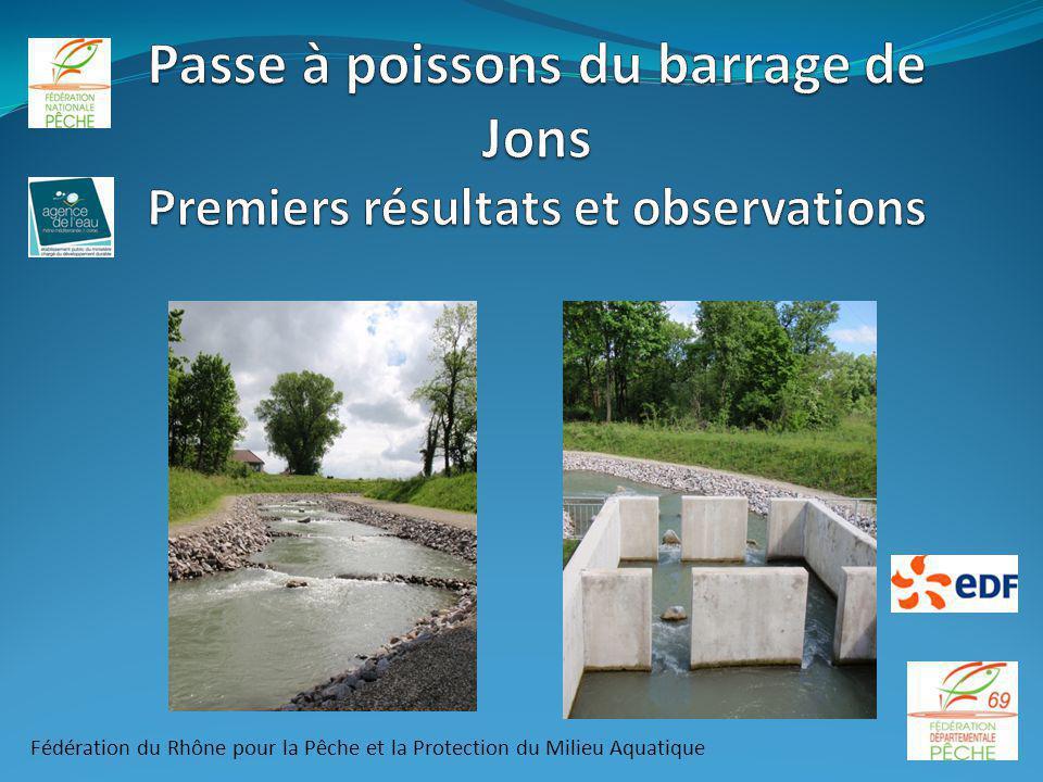 Passe à poissons du barrage de Jons Premiers résultats et observations
