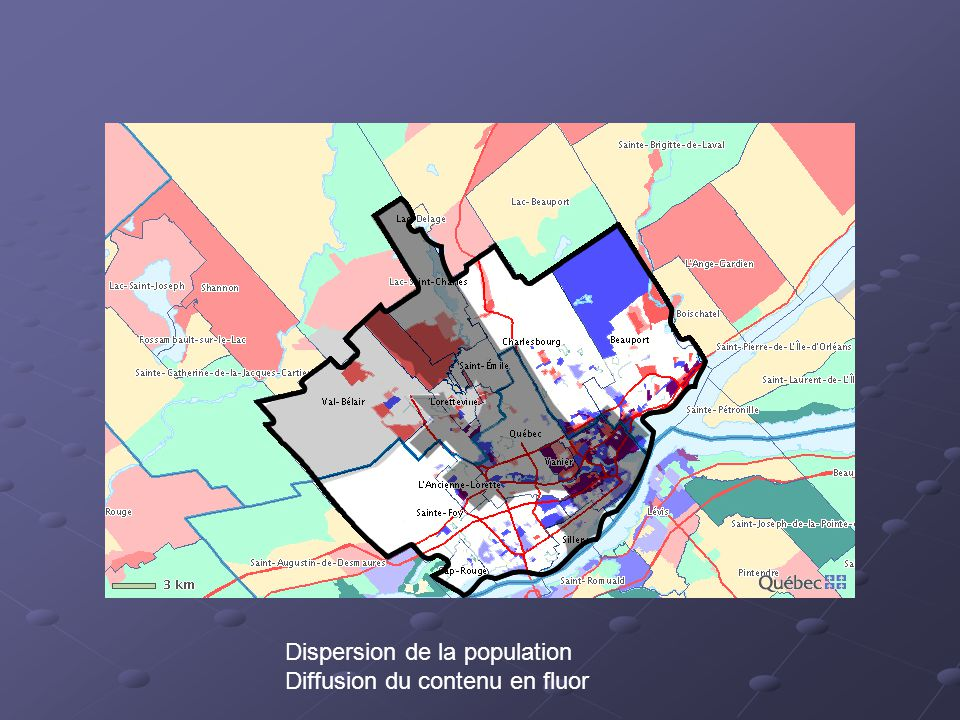 Dispersion de la population