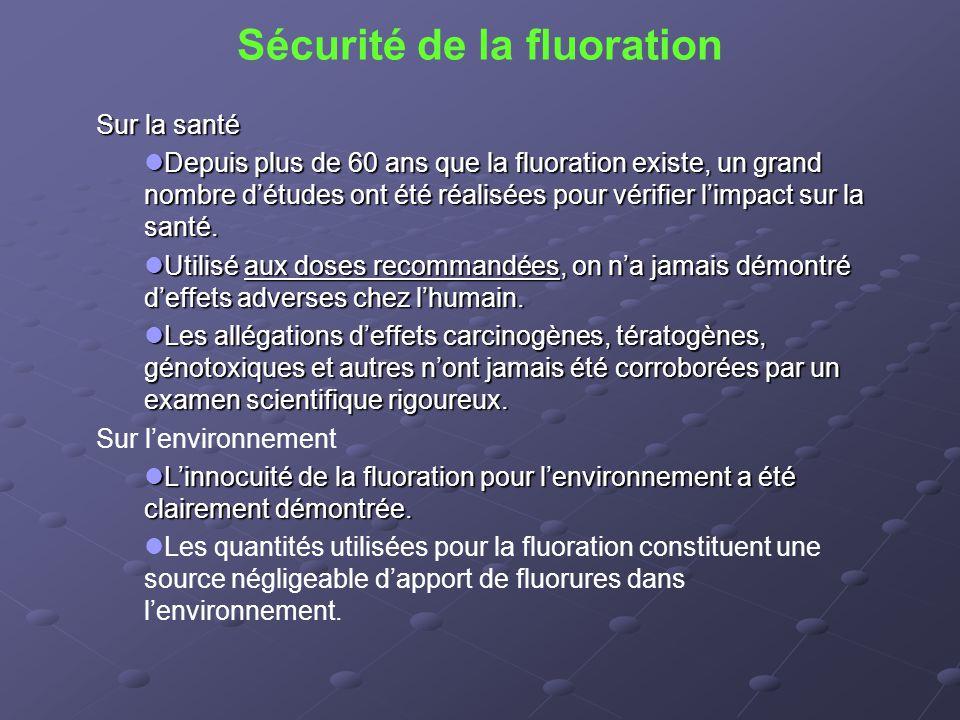 Sécurité de la fluoration