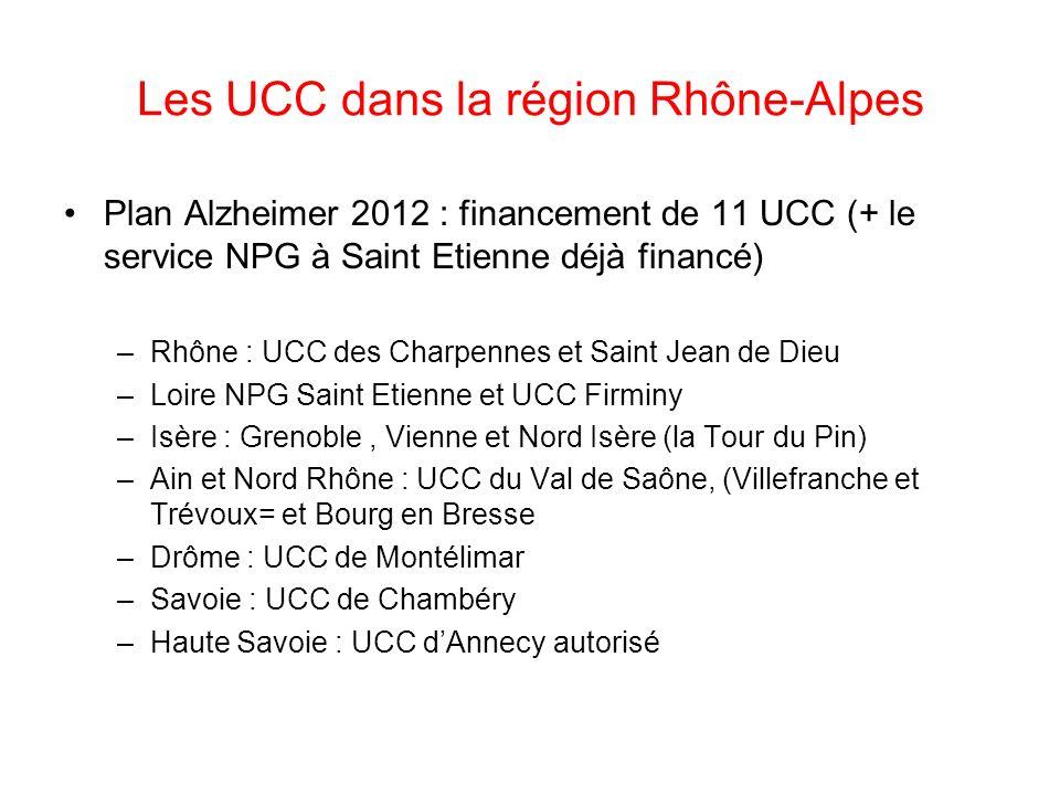 Les UCC dans la région Rhône-Alpes