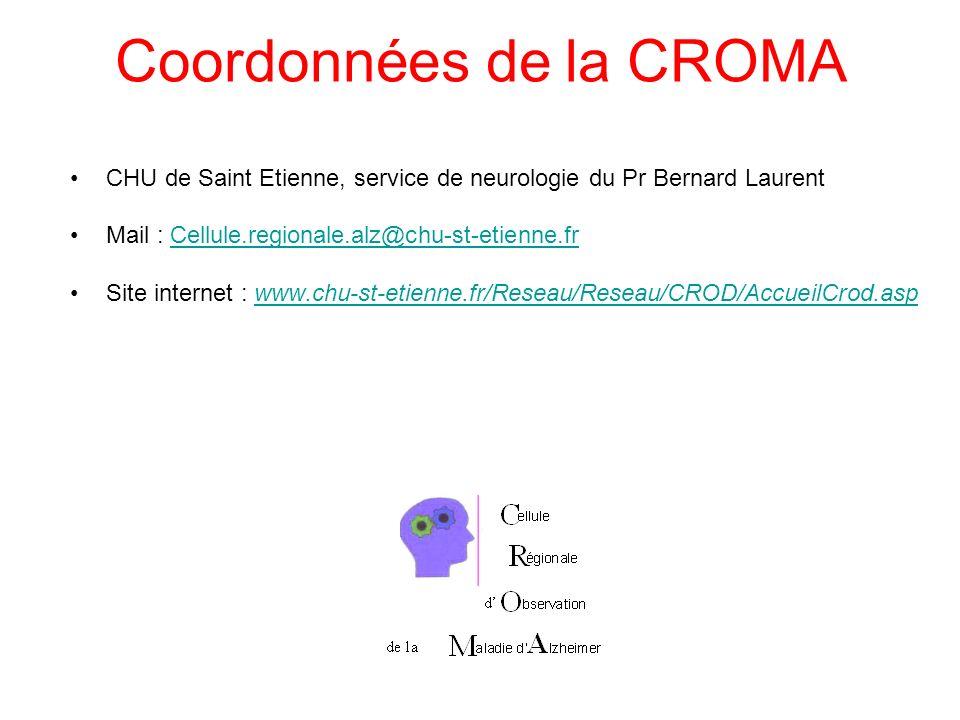 Coordonnées de la CROMA