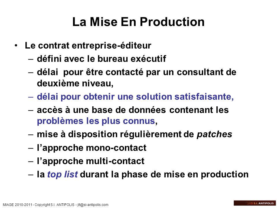 La Mise En Production Le contrat entreprise-éditeur