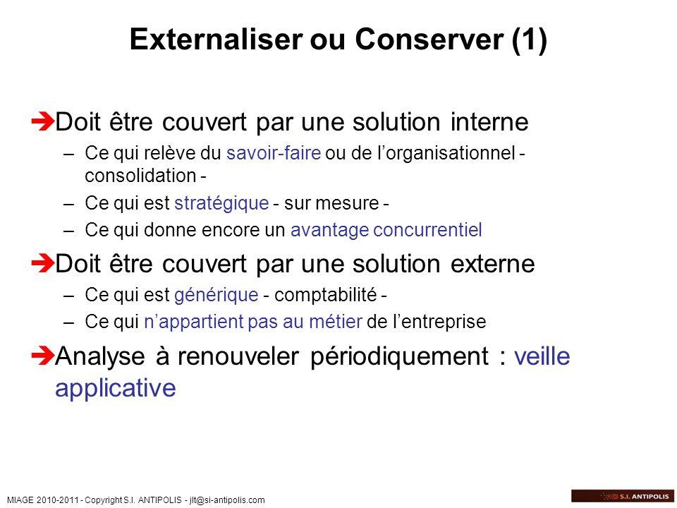 Externaliser ou Conserver (1)