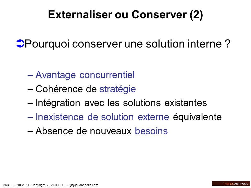 Externaliser ou Conserver (2)