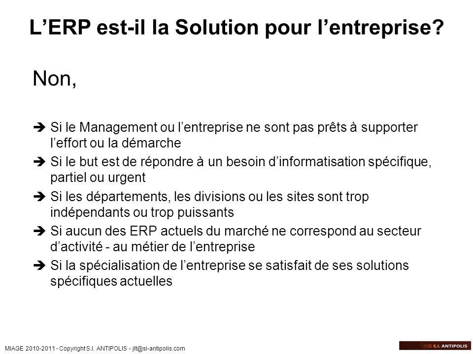 L'ERP est-il la Solution pour l'entreprise