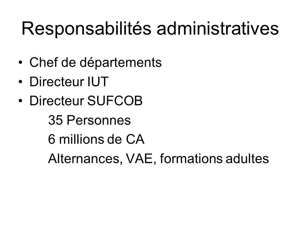 Responsabilités administratives