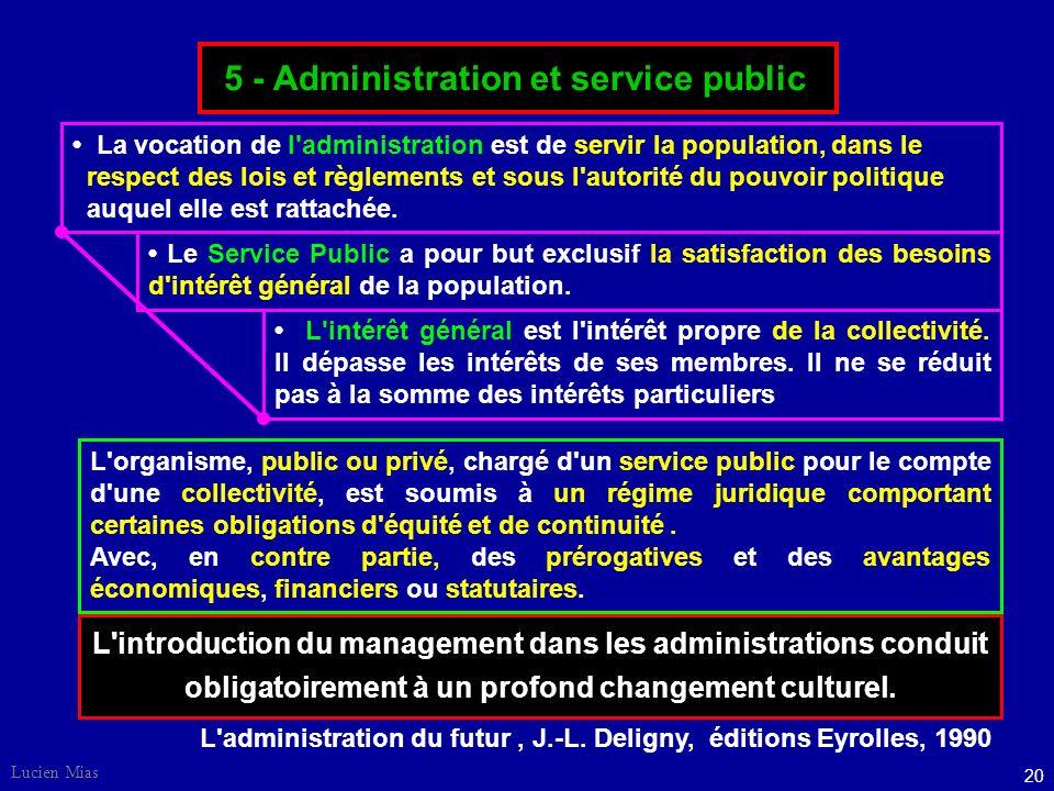 5 - Administration et service public