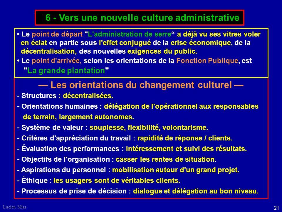 — Les orientations du changement culturel —