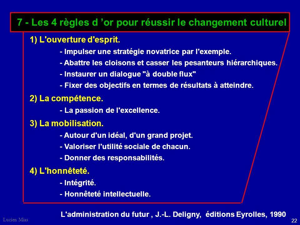 7 - Les 4 règles d 'or pour réussir le changement culturel