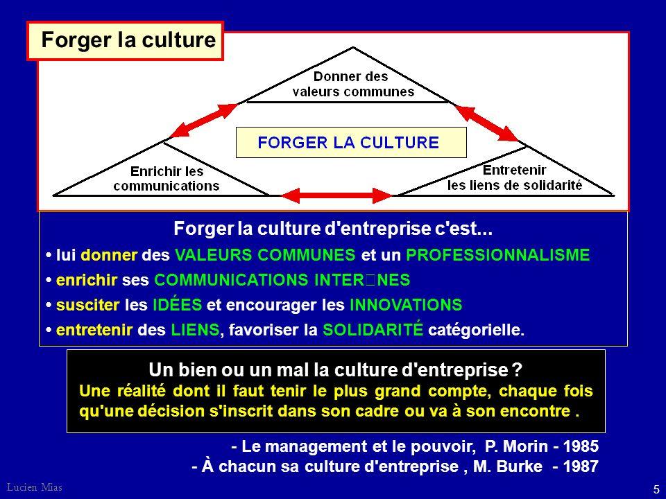 Forger la culture d entreprise c est...