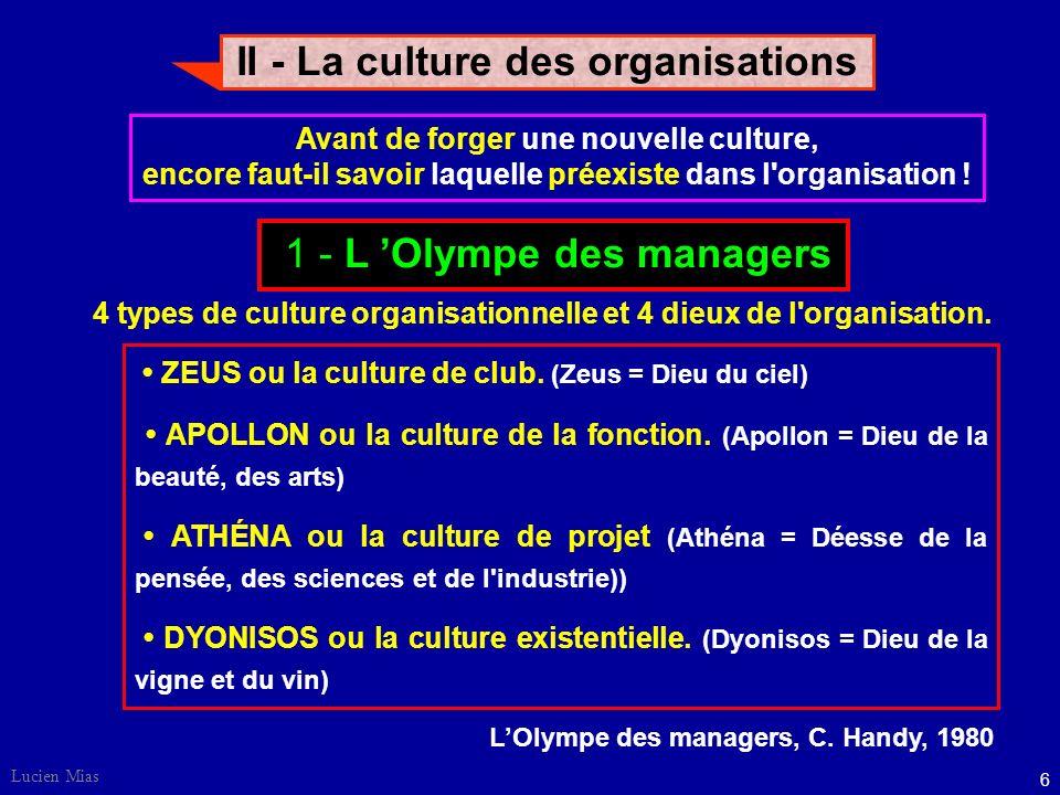 II - La culture des organisations