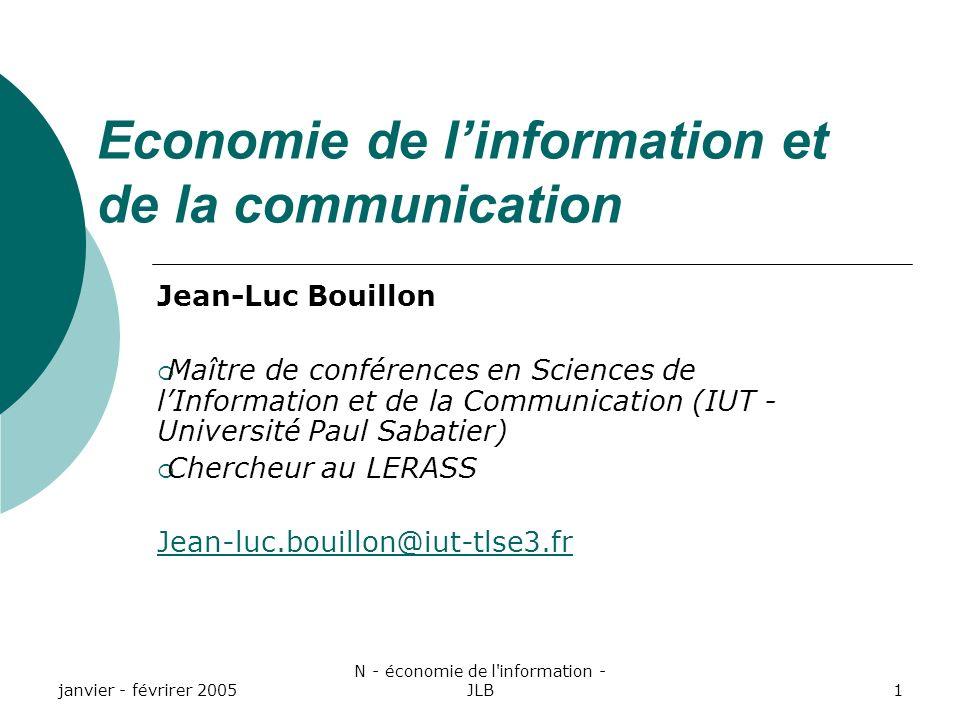 Economie de l'information et de la communication