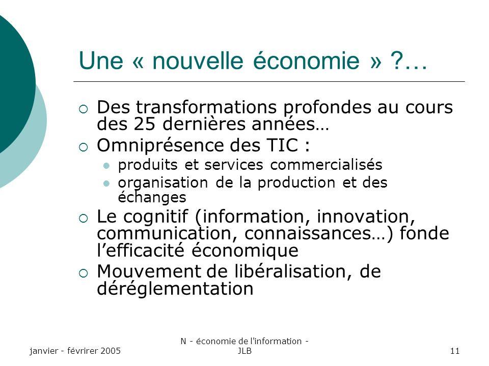 Une « nouvelle économie » …