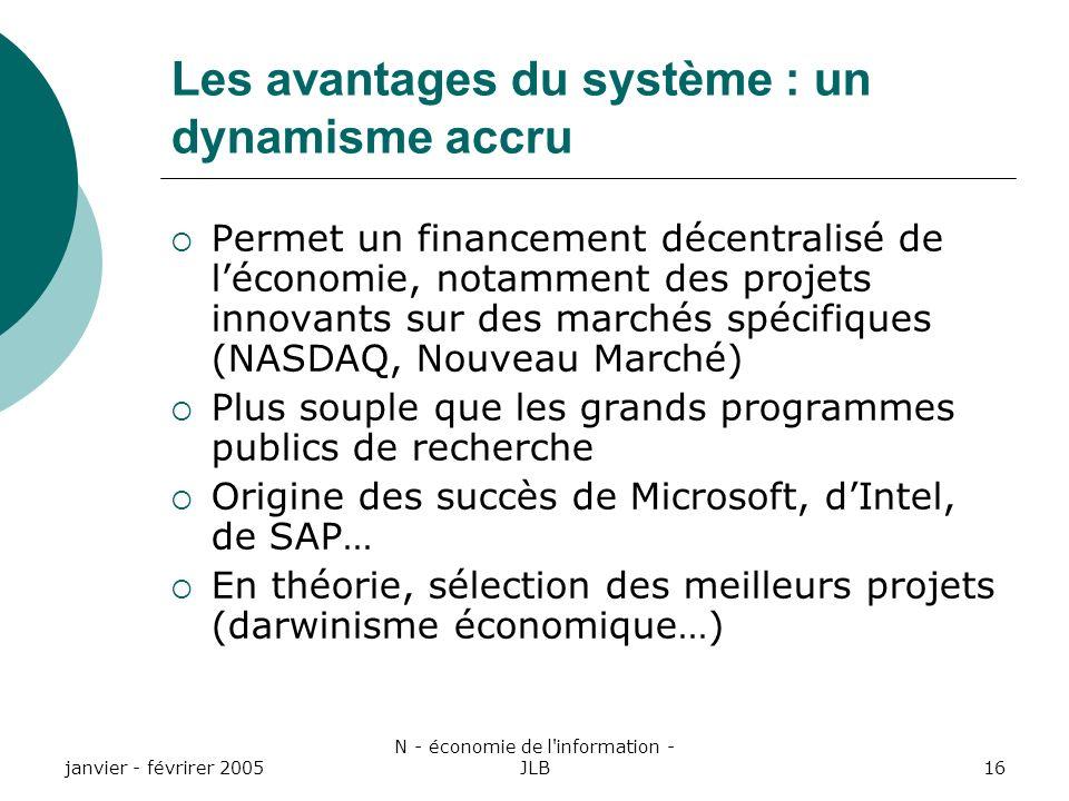 Les avantages du système : un dynamisme accru