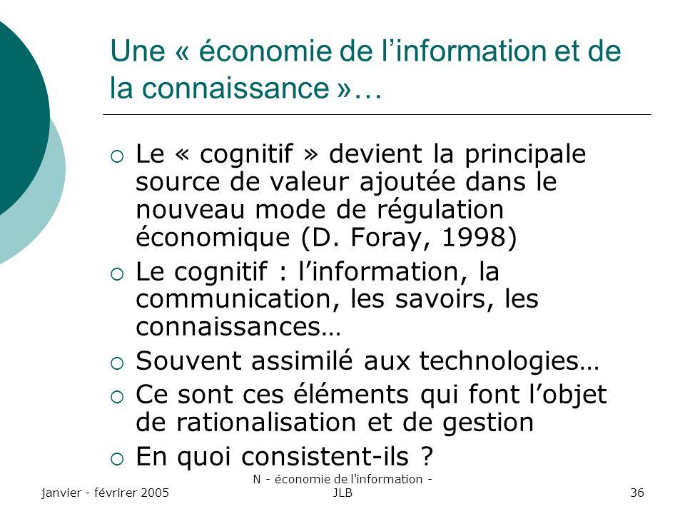 Une « économie de l'information et de la connaissance »…
