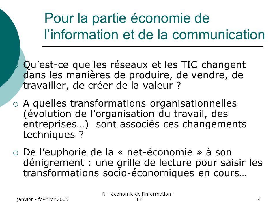 Pour la partie économie de l'information et de la communication