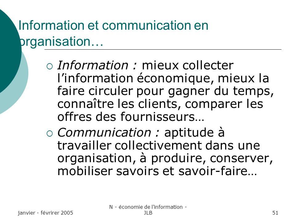 Information et communication en organisation…