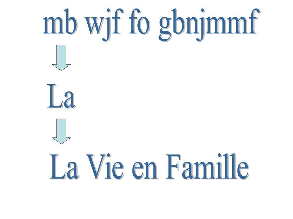 mb wjf fo gbnjmmf La La Vie en Famille