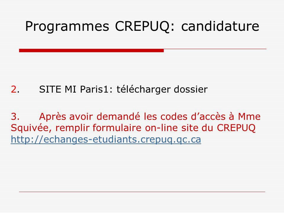 Programmes CREPUQ: candidature