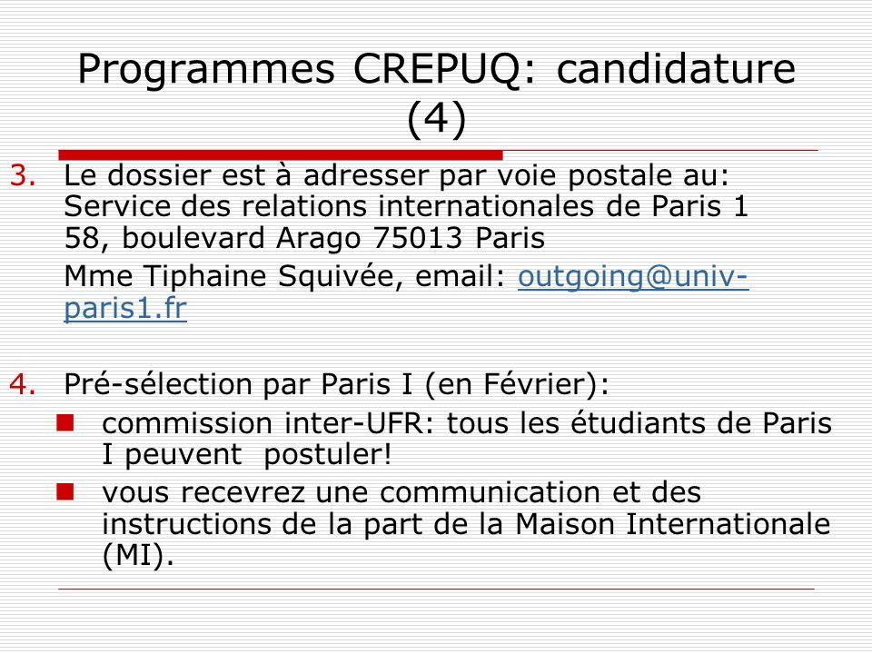 Programmes CREPUQ: candidature (4)