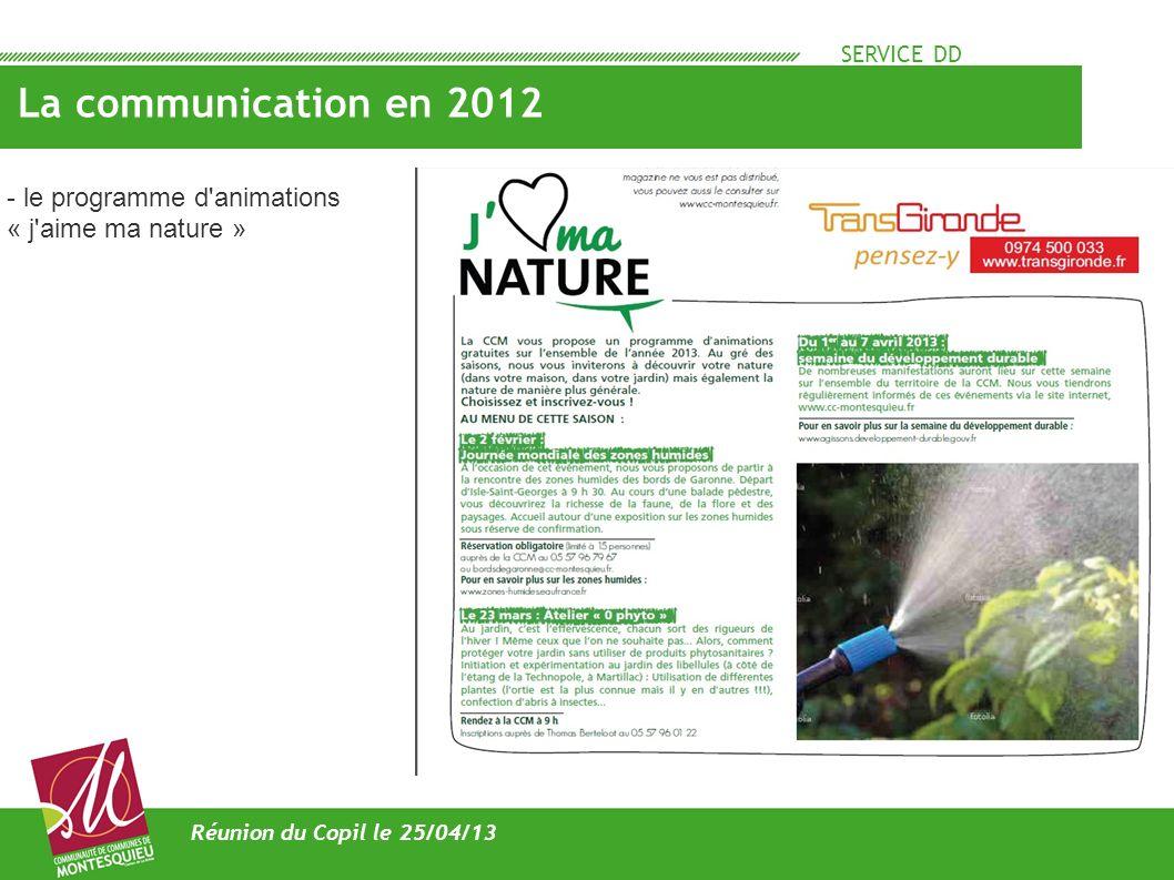 La communication en 2012 - le programme d animations