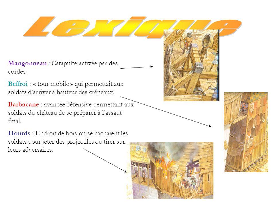 Lexique Mangonneau : Catapulte activée par des cordes.