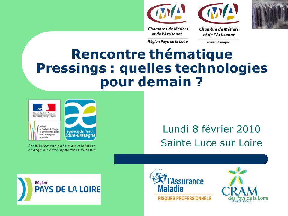 Rencontre thématique Pressings : quelles technologies pour demain