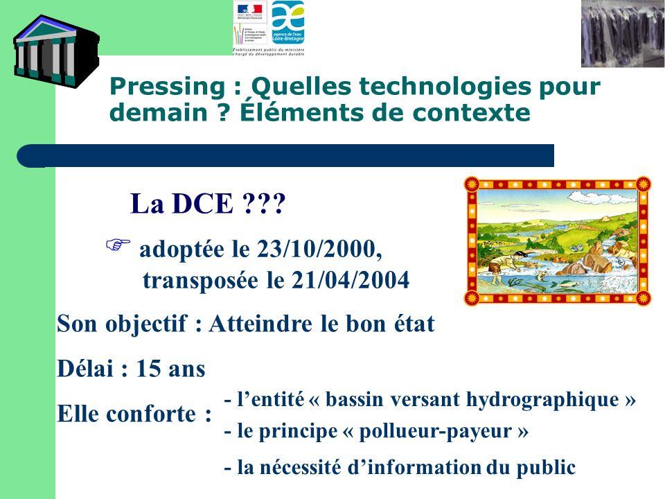 Pressing : Quelles technologies pour demain Éléments de contexte