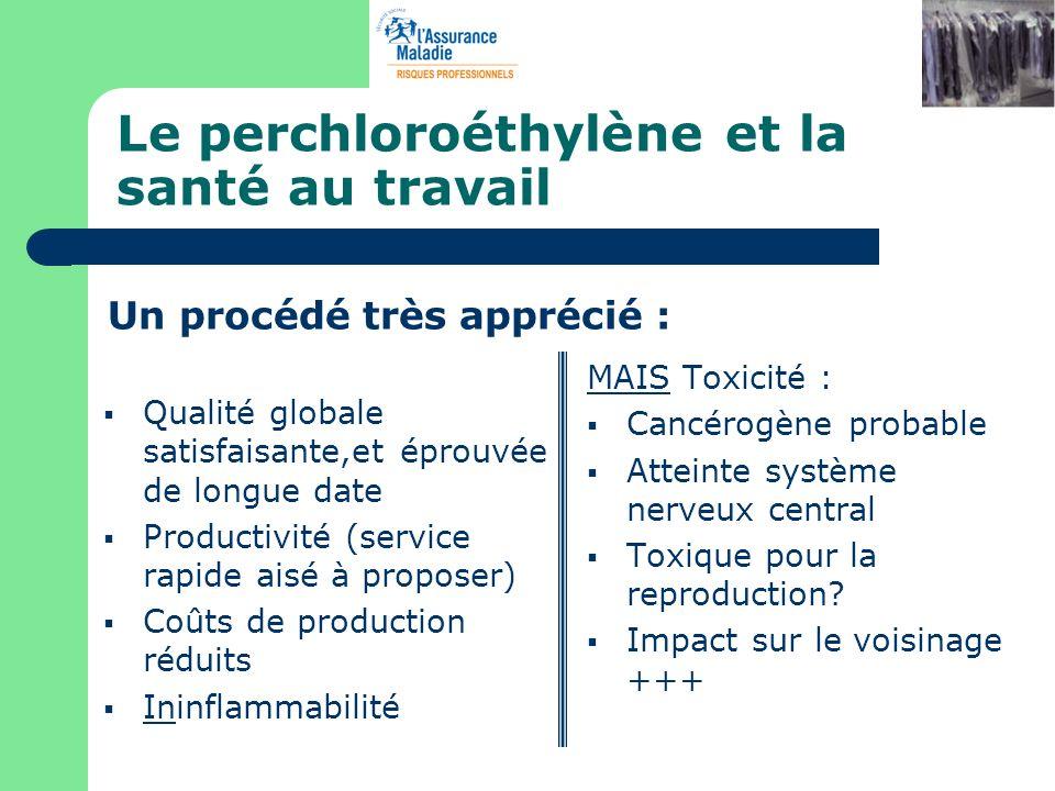 Le perchloroéthylène et la santé au travail