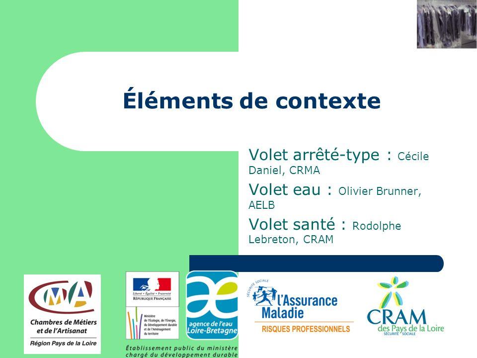 Éléments de contexte Volet arrêté-type : Cécile Daniel, CRMA