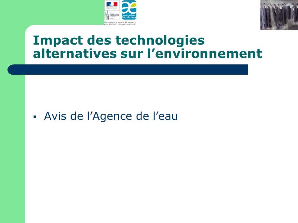 Impact des technologies alternatives sur l'environnement