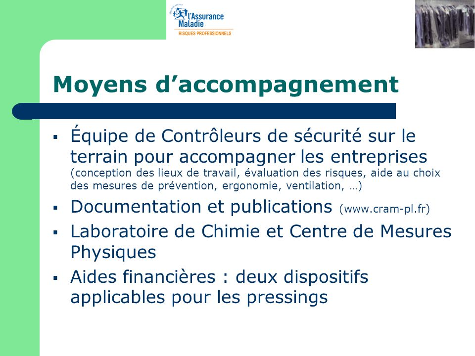 Moyens d'accompagnement