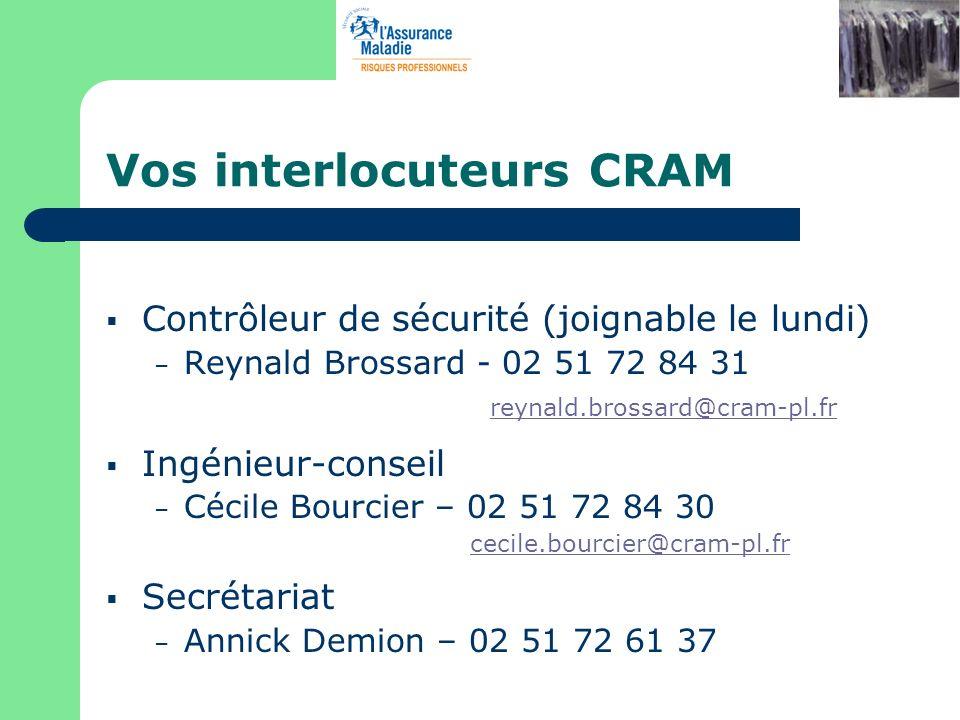 Vos interlocuteurs CRAM