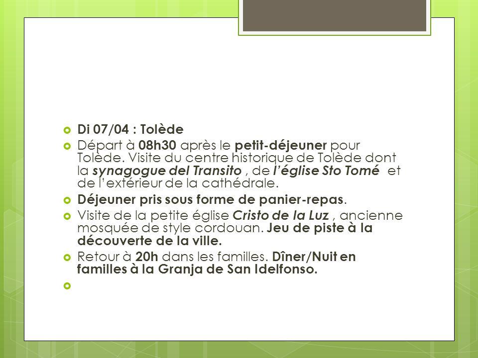 Di 07/04 : Tolède