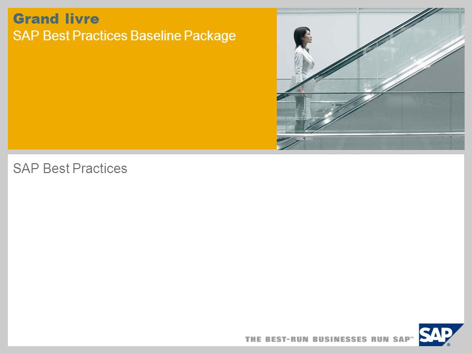 Grand livre SAP Best Practices Baseline Package