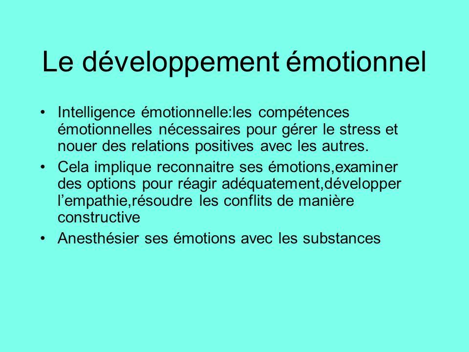 Le développement émotionnel