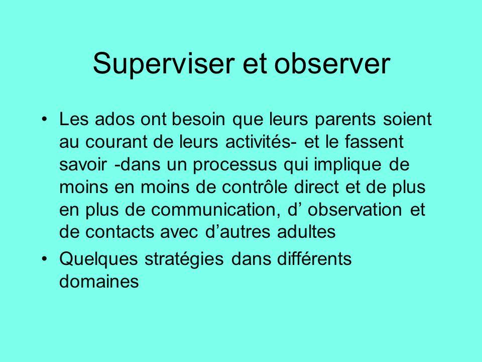 Superviser et observer
