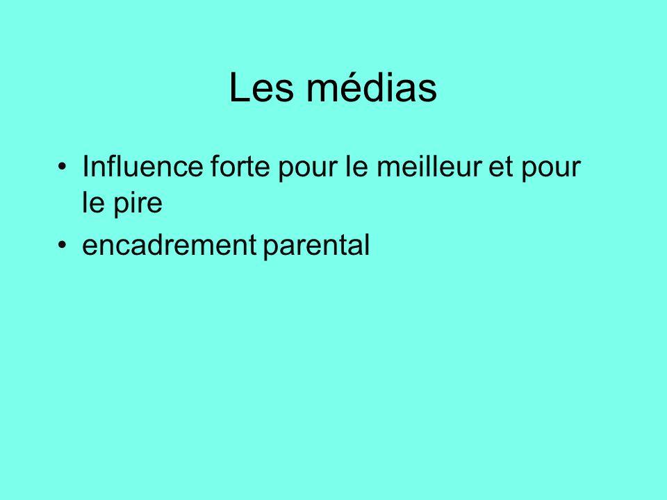 Les médias Influence forte pour le meilleur et pour le pire