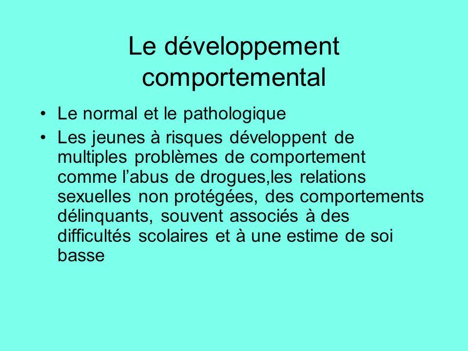 Le développement comportemental