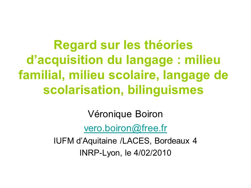 IUFM d'Aquitaine /LACES, Bordeaux 4