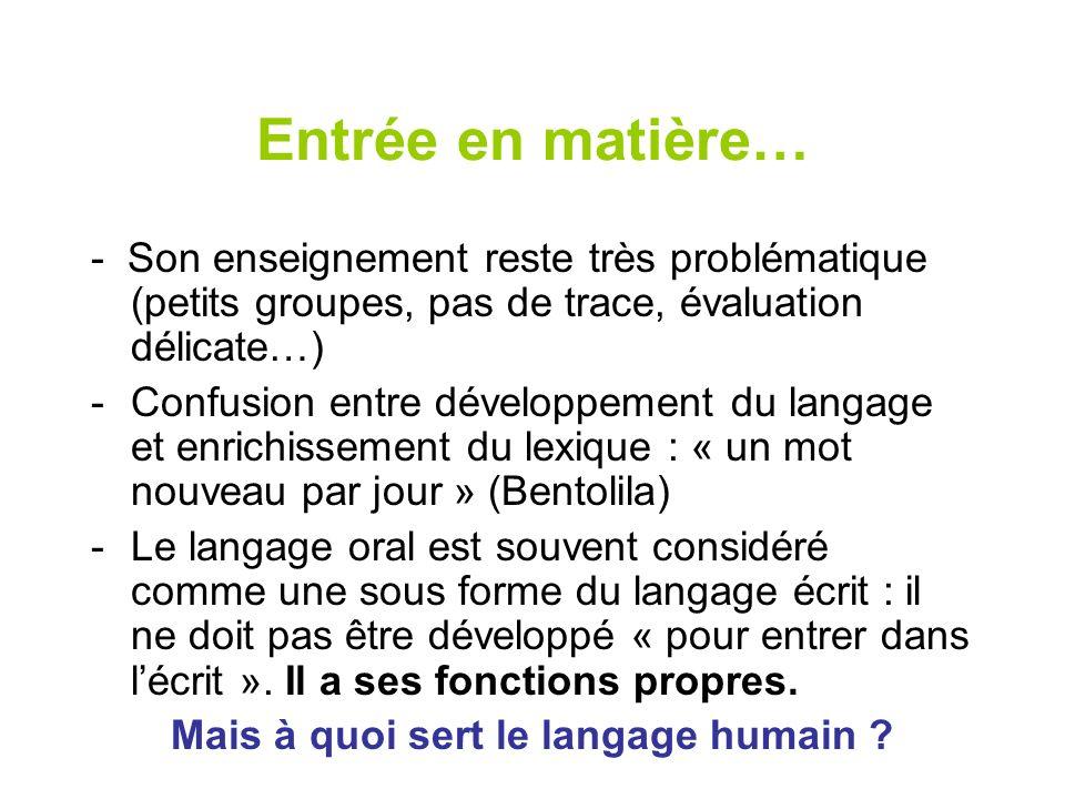 Mais à quoi sert le langage humain