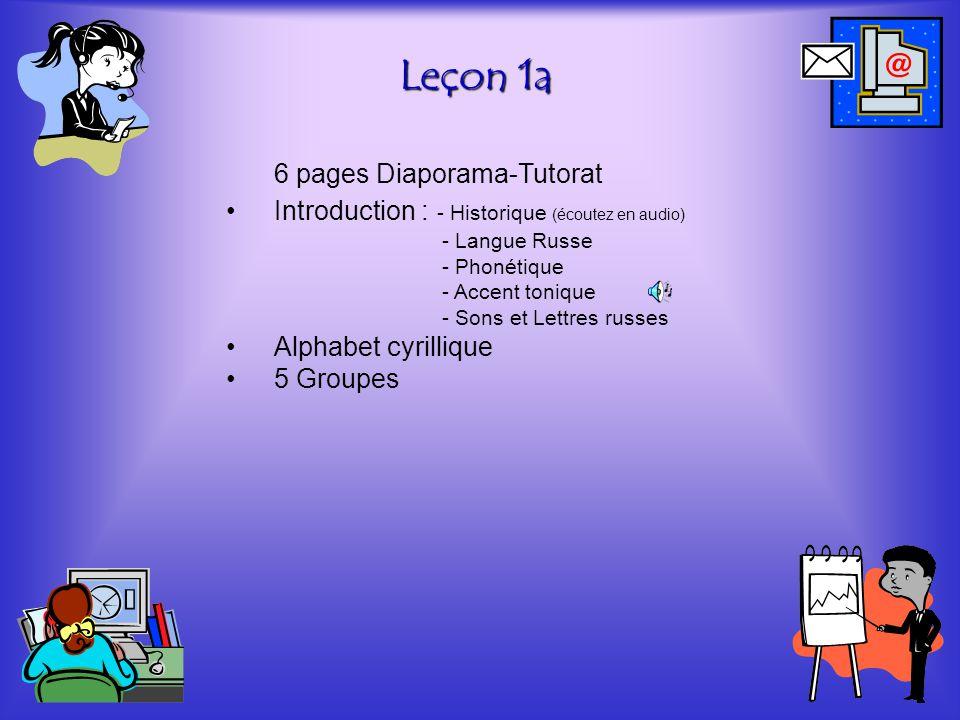Leçon 1a 6 pages Diaporama-Tutorat