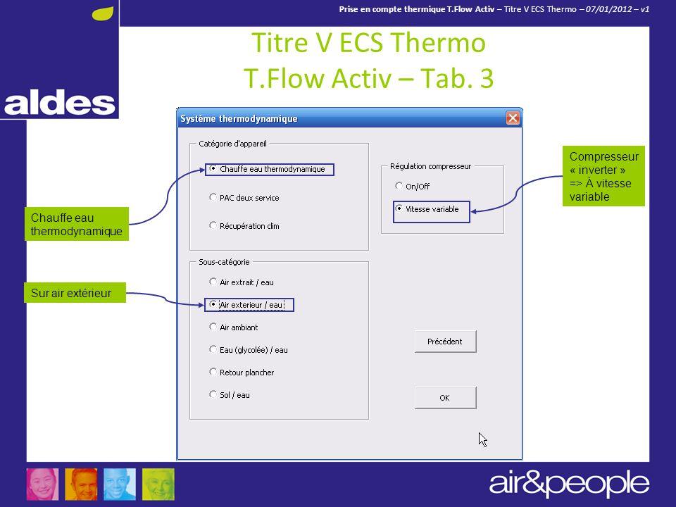 Titre V ECS Thermo T.Flow Activ – Tab. 3