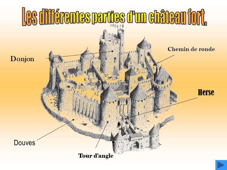 Les différentes parties d un château fort.