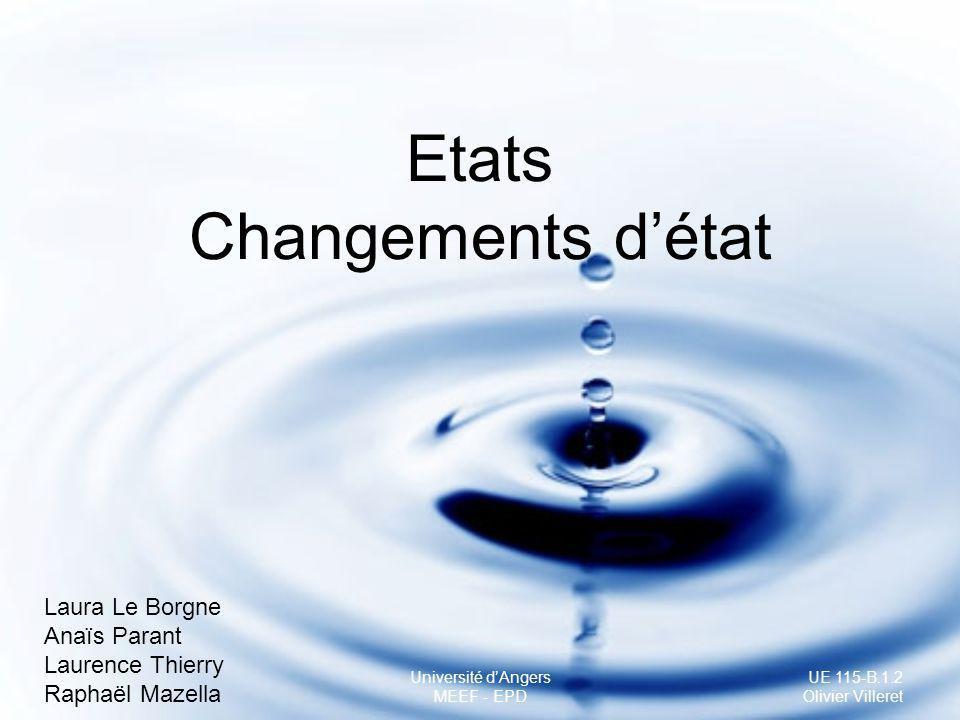 Etats Changements d'état