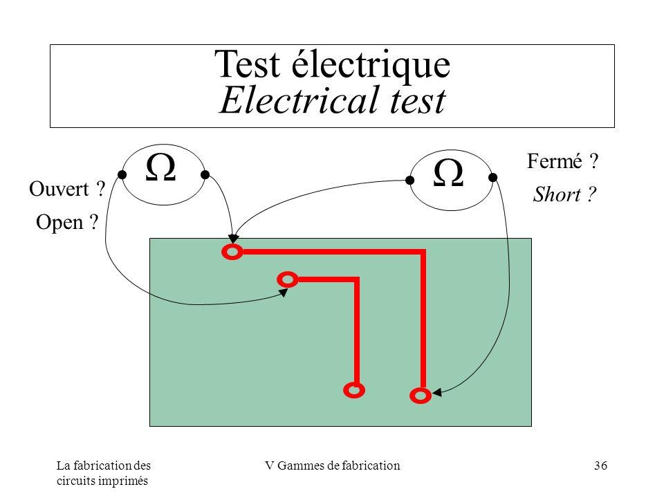 Test électrique Electrical test