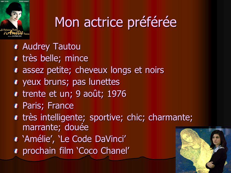 Mon actrice préférée Audrey Tautou très belle; mince