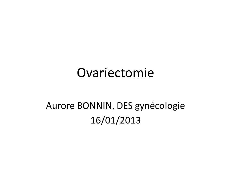 Aurore BONNIN, DES gynécologie 16/01/2013