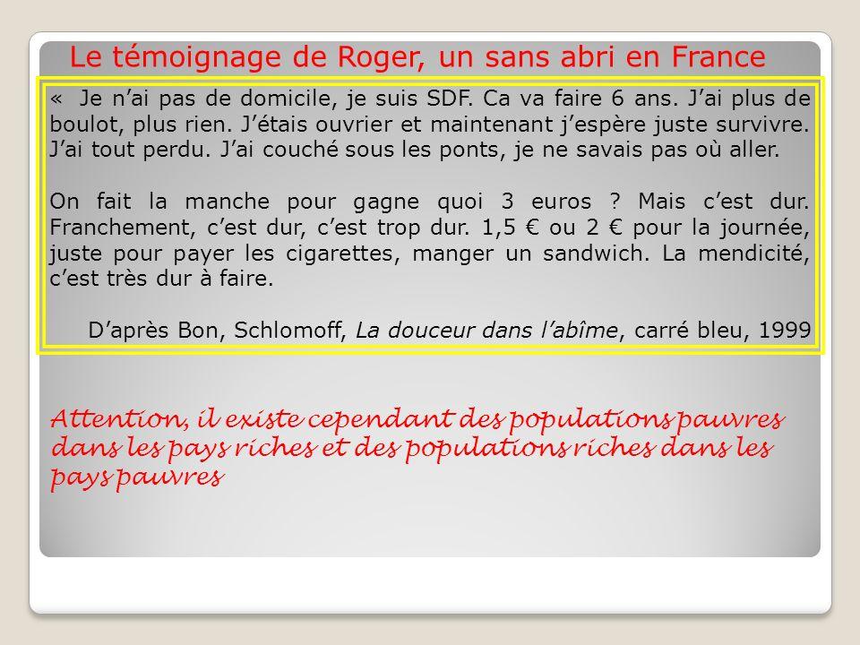 Le témoignage de Roger, un sans abri en France