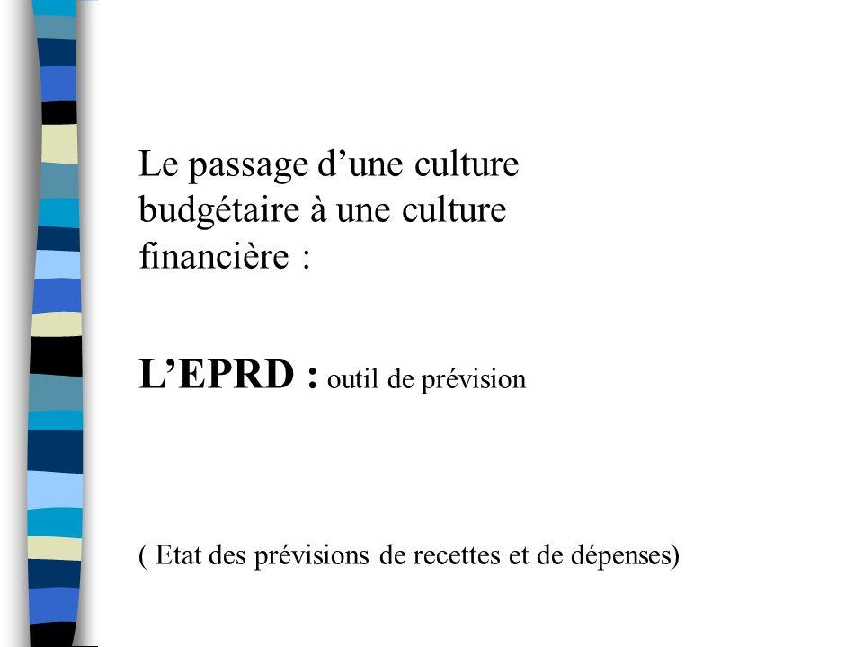 L'EPRD : outil de prévision